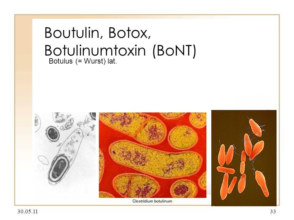 Boutulin, Botox, Botulinumtoxin (BoNT) 30.05.1133 Botulus (= Wurst) lat.