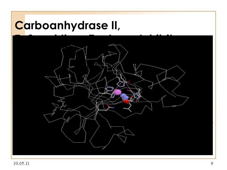 Carboanhydrase II, Zn2+, aktives Zentrum, Inhibitor (NH3) 30.05.119 Textmasterformate durch Klicken bearbeiten Zweite Ebene Dritte Ebene Vierte Ebene