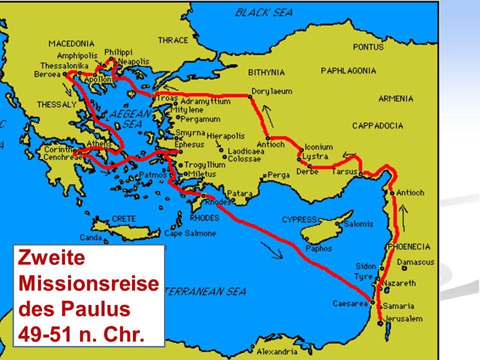 Die 4. Reise des Paulus als Gefangener nach Rom; Herbst 59 - Frühling 60