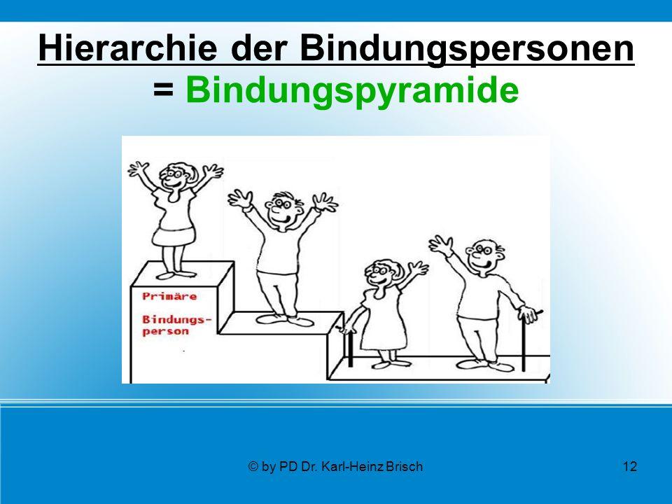 © by PD Dr. Karl-Heinz Brisch12 Hierarchie der Bindungspersonen = Bindungspyramide