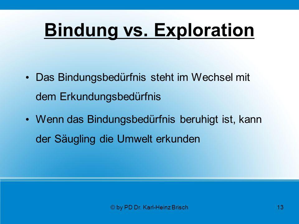 © by PD Dr. Karl-Heinz Brisch13 Bindung vs.