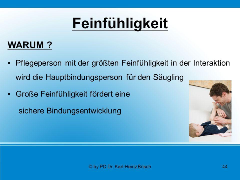 © by PD Dr. Karl-Heinz Brisch44 Feinfühligkeit WARUM .