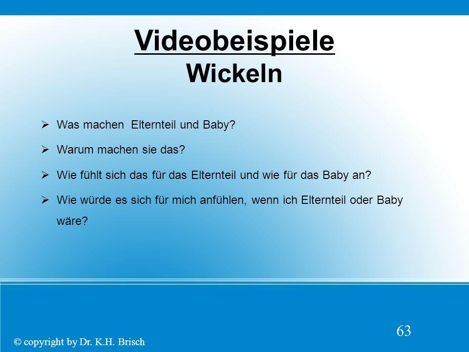 63 Videobeispiele Wickeln  Was machen Elternteil und Baby.