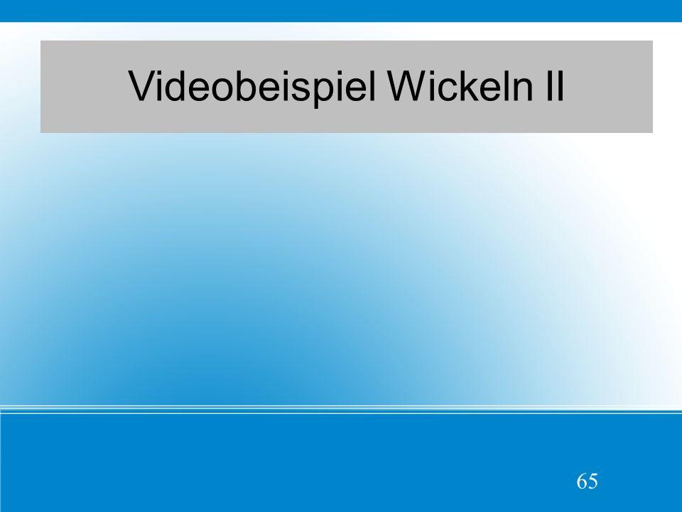 Videobeispiel Wickeln II 65