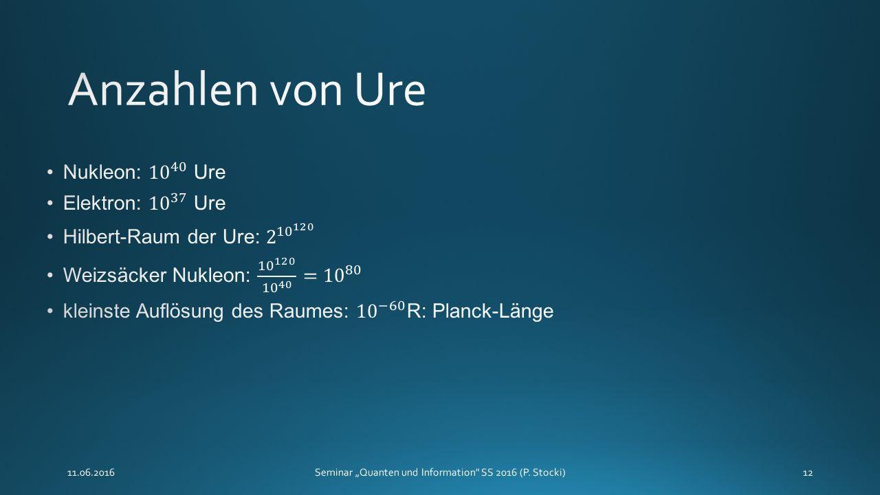 """11.06.2016Seminar """"Quanten und Information SS 2016 (P. Stocki)12"""