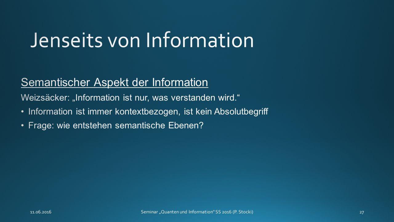 """11.06.2016Seminar """"Quanten und Information SS 2016 (P. Stocki)27"""
