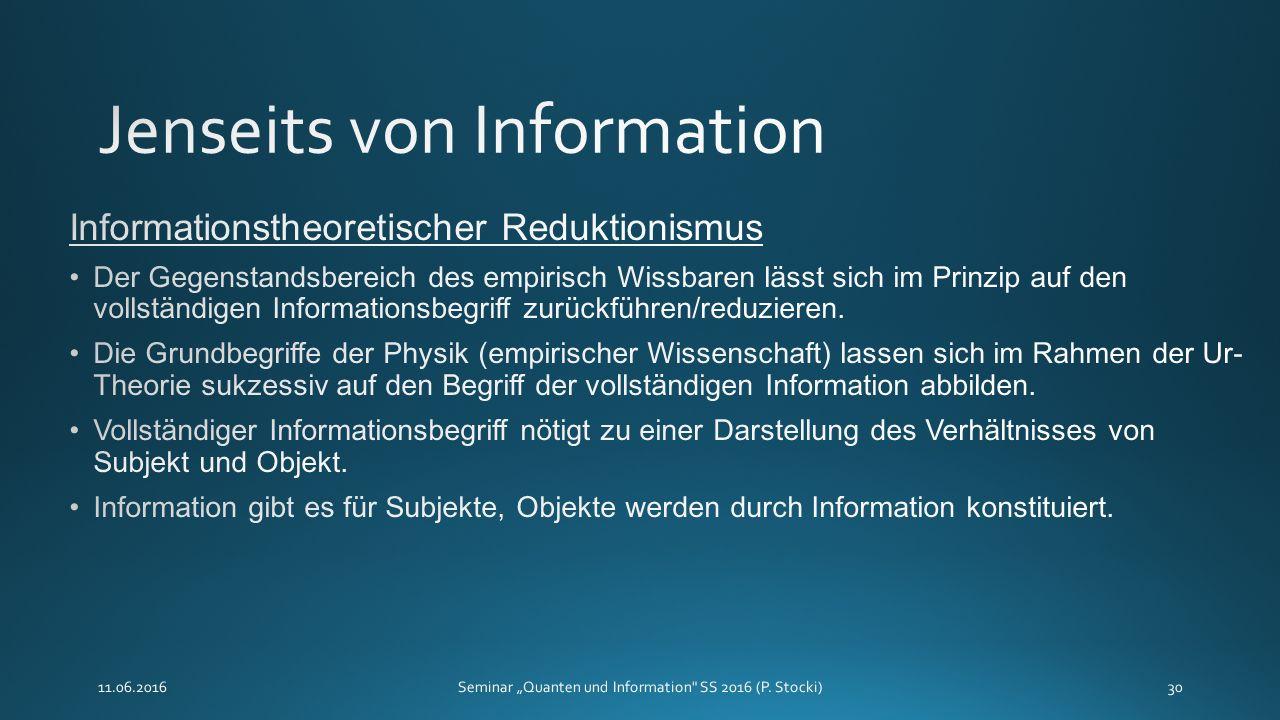 """11.06.2016Seminar """"Quanten und Information SS 2016 (P. Stocki)30"""