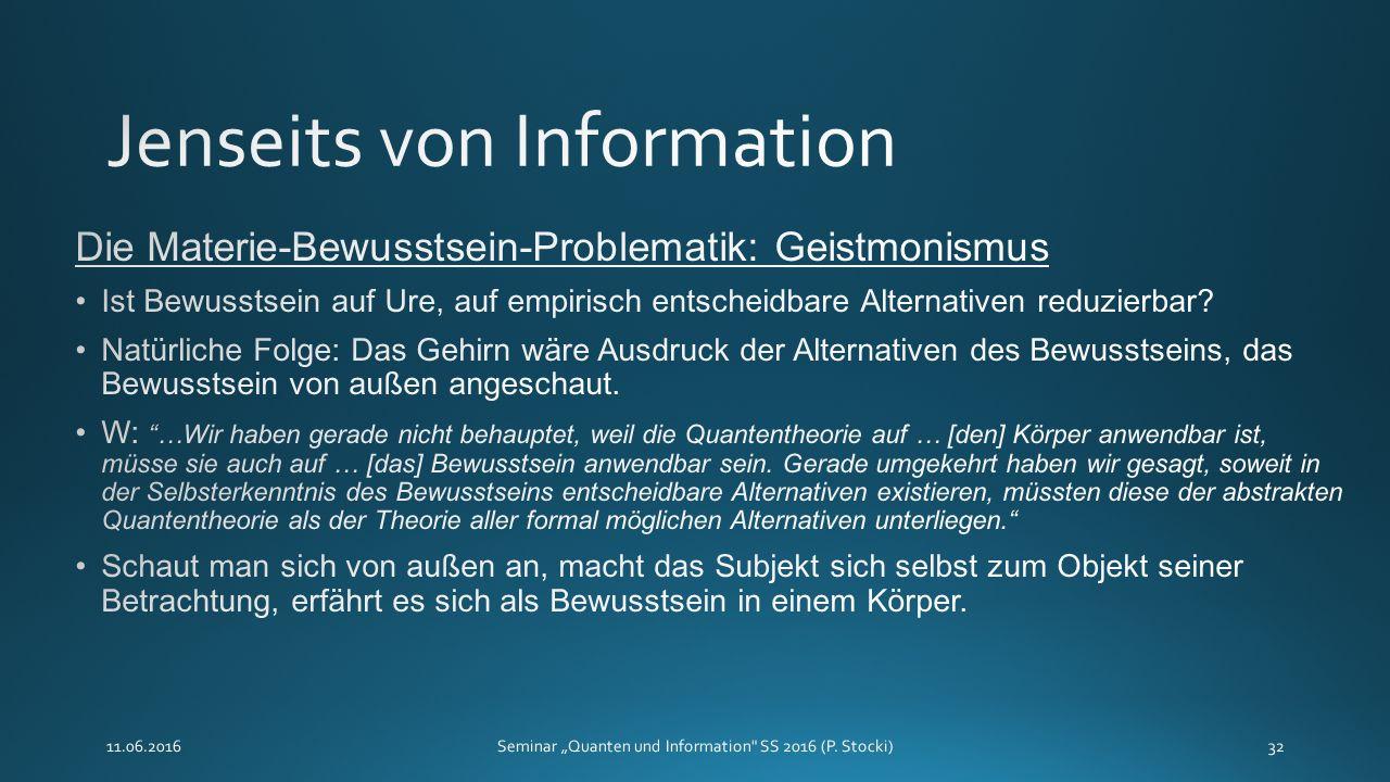 """11.06.2016Seminar """"Quanten und Information SS 2016 (P. Stocki)32"""