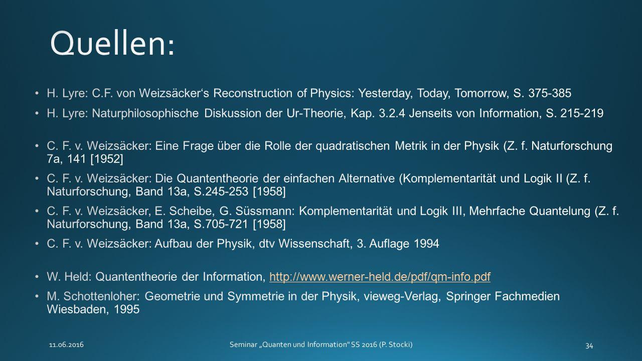 """11.06.2016Seminar """"Quanten und Information SS 2016 (P. Stocki)34"""