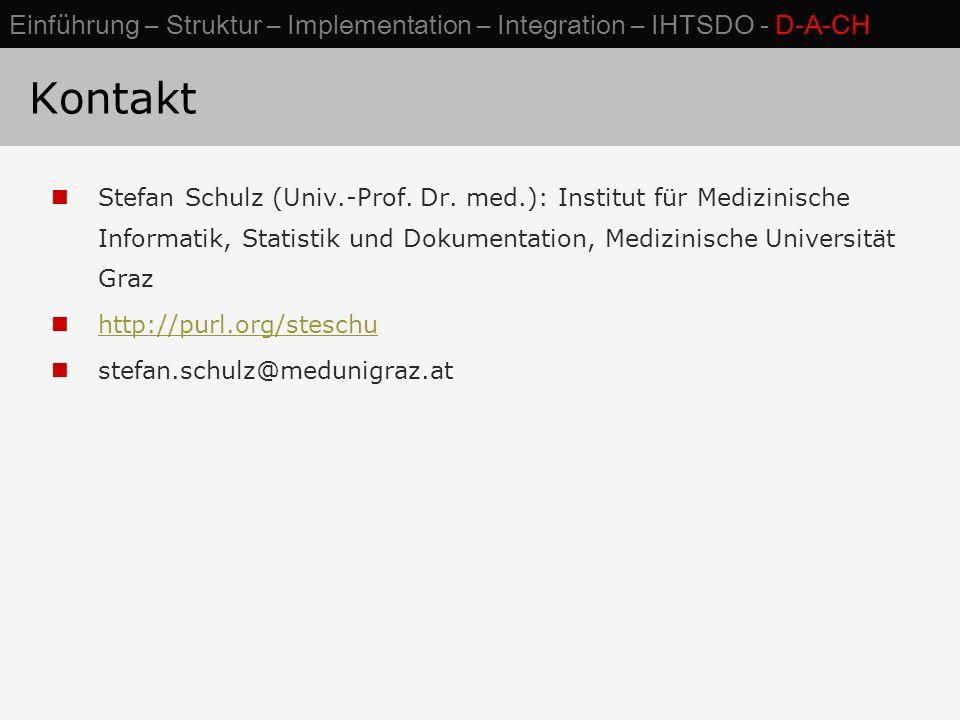Kontakt Stefan Schulz (Univ.-Prof.Dr.