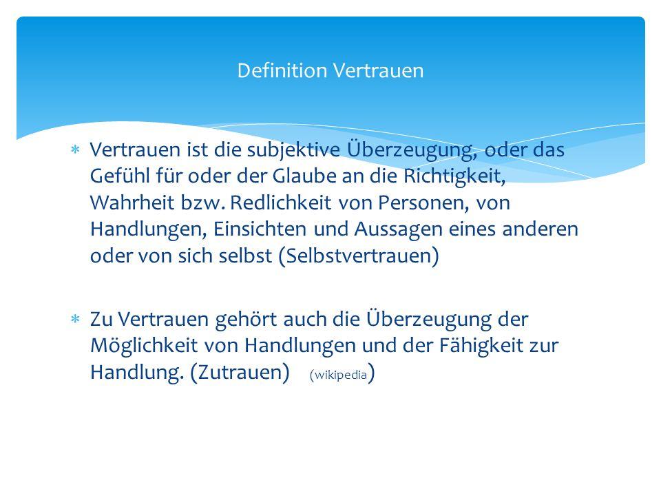 Urvertrauen (basic trust nach Erik H.