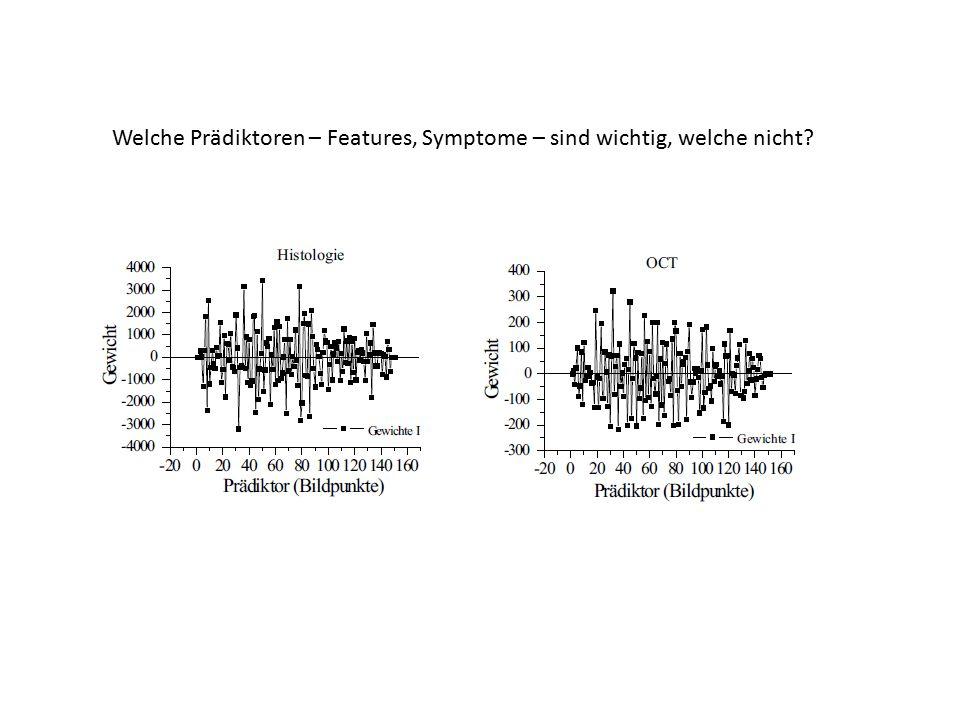 Welche Prädiktoren – Features, Symptome – sind wichtig, welche nicht