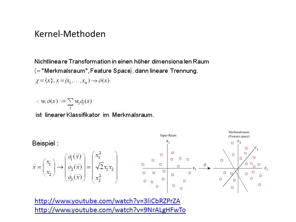 Kernel-Methoden http://www.youtube.com/watch v=3liCbRZPrZA http://www.youtube.com/watch v=9NrALgHFwTo