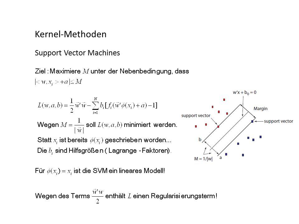 Kernel-Methoden Support Vector Machines