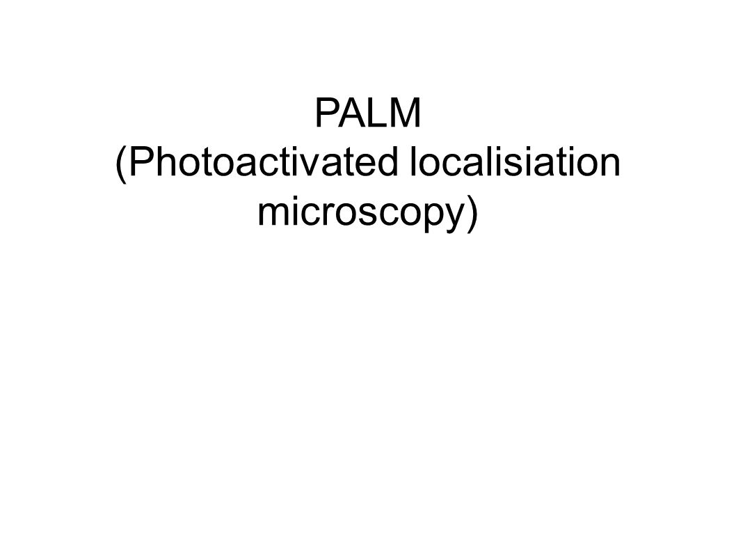 PALM (Photoactivated localisiation microscopy)