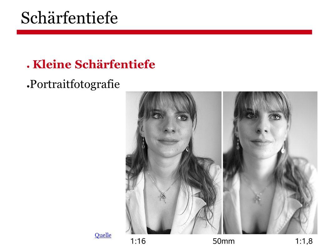 Schärfentiefe ● Kleine Schärfentiefe ● Portraitfotografie Quelle
