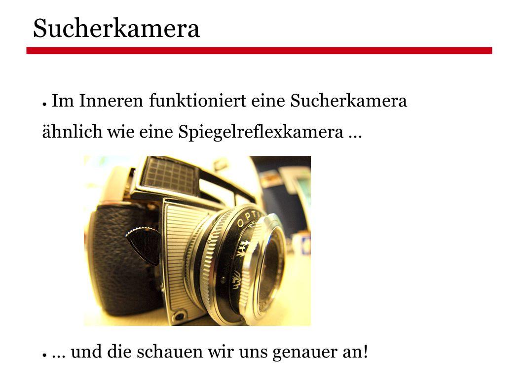 Sucherkamera ● Im Inneren funktioniert eine Sucherkamera ähnlich wie eine Spiegelreflexkamera … ● … und die schauen wir uns genauer an!