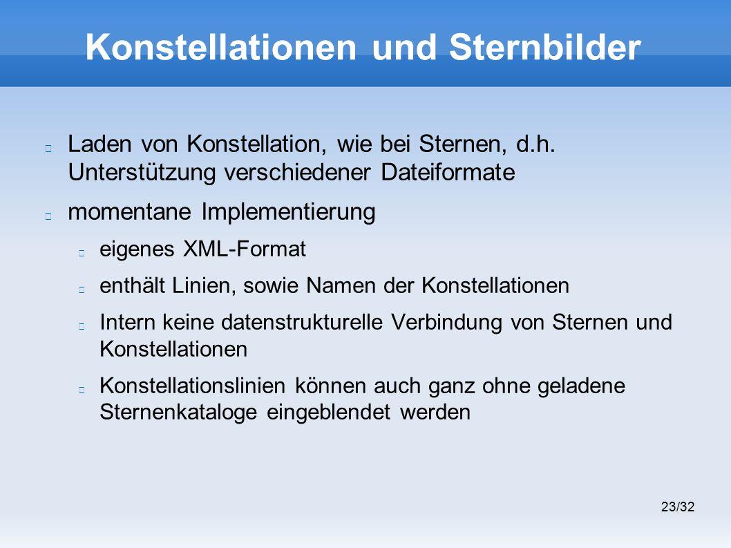 23/32 Konstellationen und Sternbilder Laden von Konstellation, wie bei Sternen, d.h.