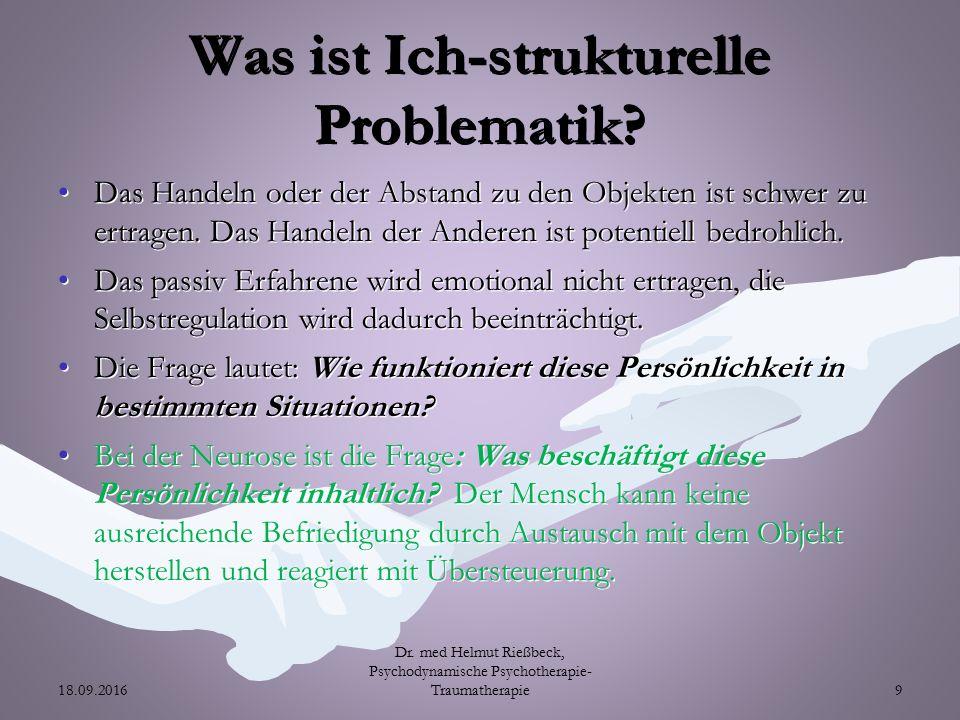 Was ist Ich-strukturelle Problematik.