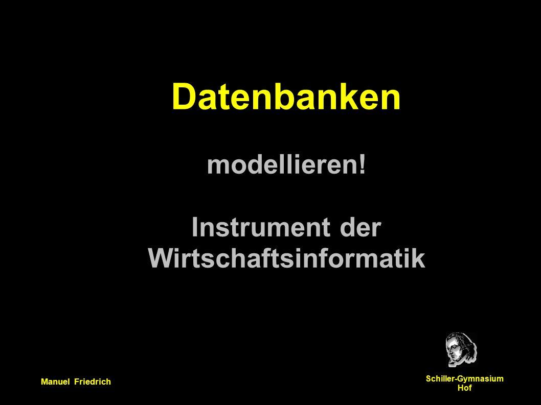 Manuel Friedrich Schiller-Gymnasium Hof Datenbanken modellieren.