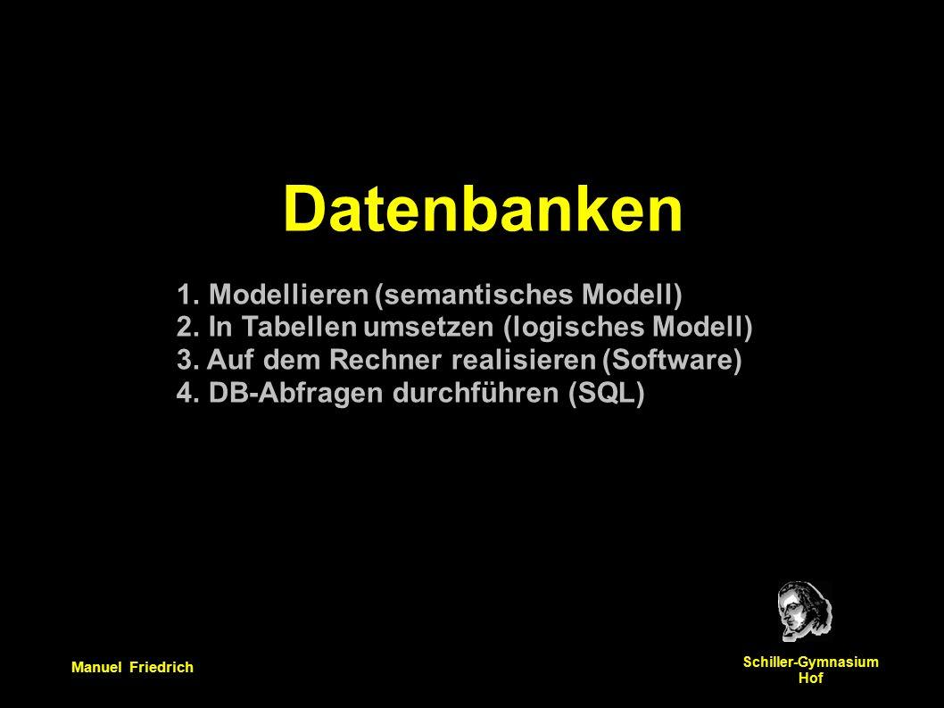 Manuel Friedrich Schiller-Gymnasium Hof Datenbanken 1.