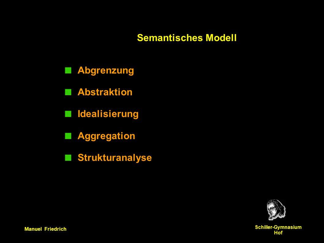 Manuel Friedrich Schiller-Gymnasium Hof Abgrenzung Abstraktion Idealisierung Aggregation Strukturanalyse Semantisches Modell