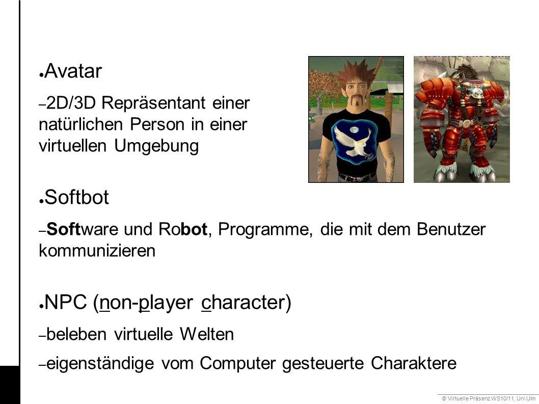 © Virtuelle Präsenz WS10/11, Uni Ulm 6.3 Gestik ● Gestikerkennung – Datenhandschuh – Bildbasierte Erkennung (z.B.