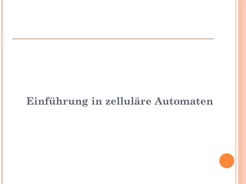 Einführung in zelluläre Automaten