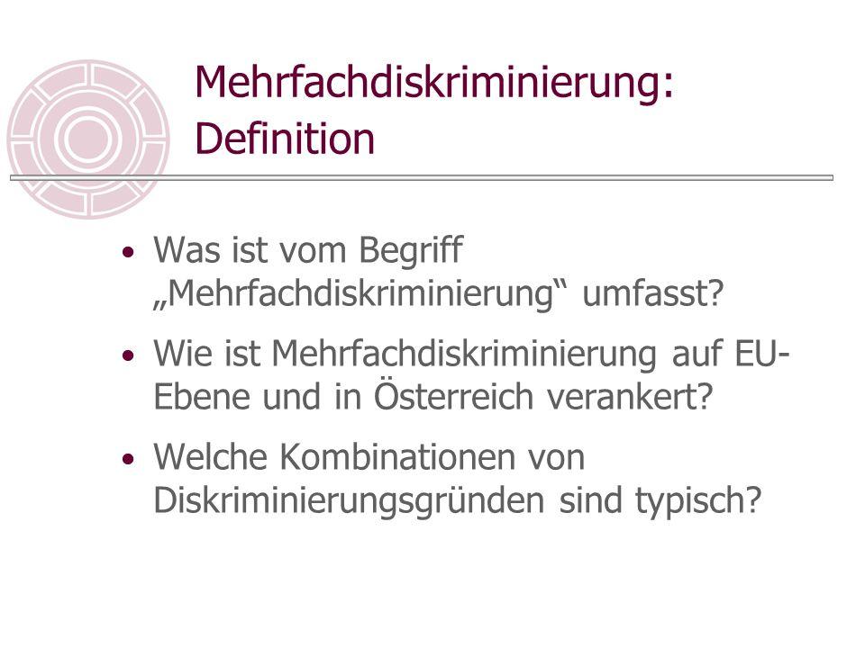 Mehrfachdiskriminierung: Zuständigkeiten Welche Zuständigkeitsfragen ergeben sich bei Mehrfachdiskriminierung.