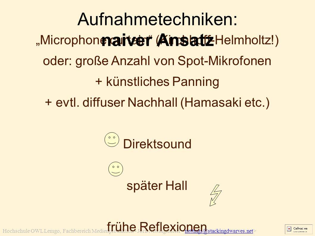 "Hochschule OWL Lemgo, Fachbereich Medienproduktion - Jörn Nettingsmeier nettings@stackingdwarves.net ""Microphone curtain"" (Kirchhoff-Helmholtz!) oder:"