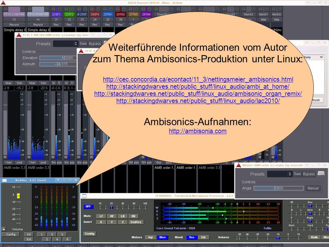 Hochschule OWL Lemgo, Fachbereich Medienproduktion - Jörn Nettingsmeier nettings@stackingdwarves.net 3. HOA-Toolchain mit freier Software Weiterführen