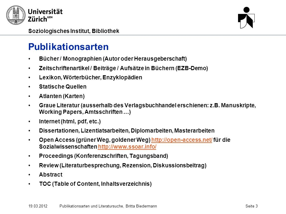 Soziologisches Institut, Bibliothek Research Question What is the effect of foreign education on immigrant employment in Switzerland.