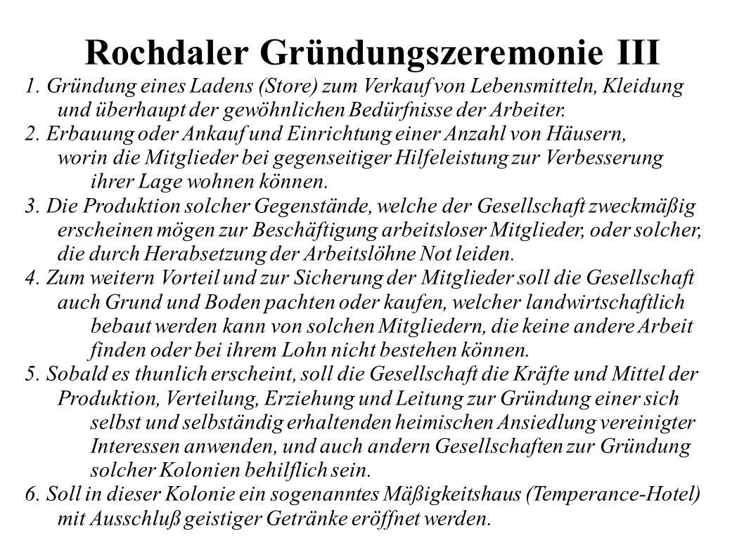 Rochdaler Gründungszeremonie III 1.