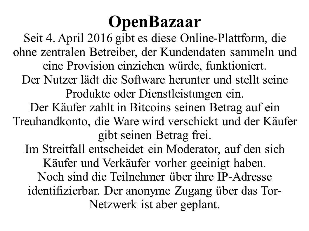 OpenBazaar Seit 4.