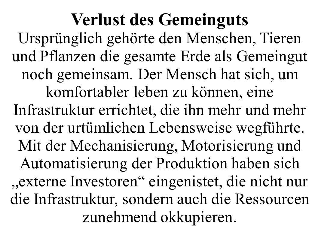 Trennung der Produktion von der Reproduktion Zunächst erforderte Handel, Bergbau und Plantagenwirtschaft, später dann die Mechanisierung (Seit 1764 Spinn-, seit 1785 Webmaschinen, seit 1769 Dampfmaschine etc.) - mit der Steinkohle und später dem Erdöl als Energiequelle - hohe Investitionen und entsprechende Investoren.