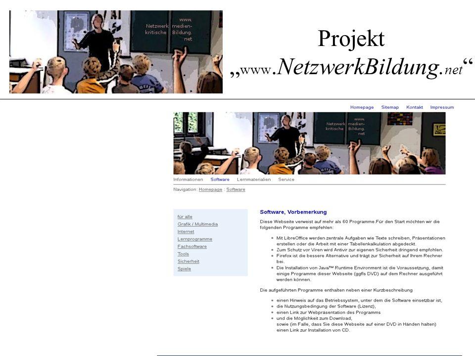 """Projekt """" www.NetzwerkBildung. net """""""