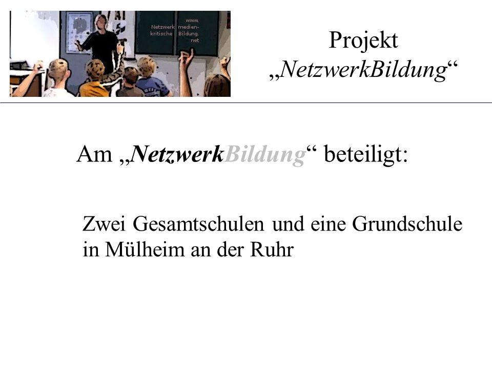 """Am """"NetzwerkBildung"""" beteiligt: Projekt """"NetzwerkBildung"""" Zwei Gesamtschulen und eine Grundschule in Mülheim an der Ruhr"""