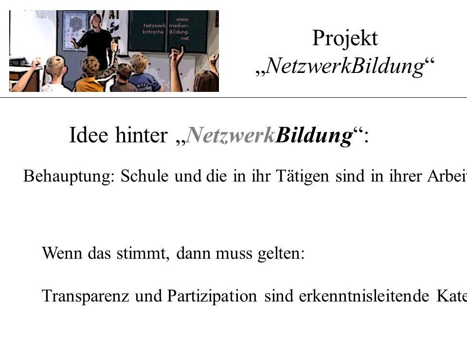 """Projekt """" www.NetzwerkBildung. net"""