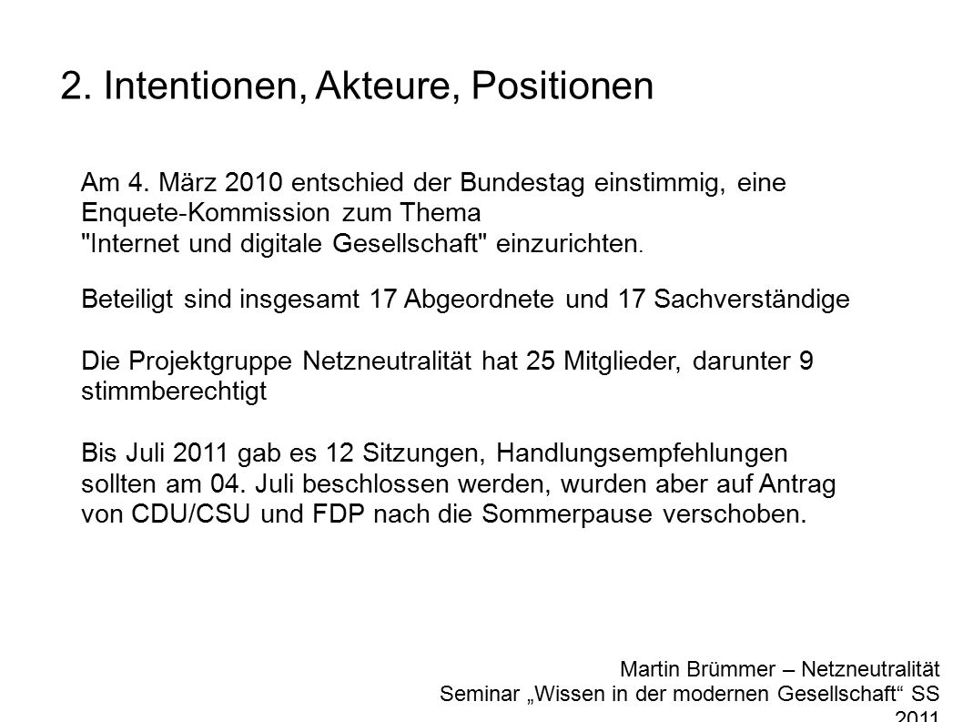 "Martin Brümmer – Netzneutralität Seminar ""Wissen in der modernen Gesellschaft SS 2011 2."