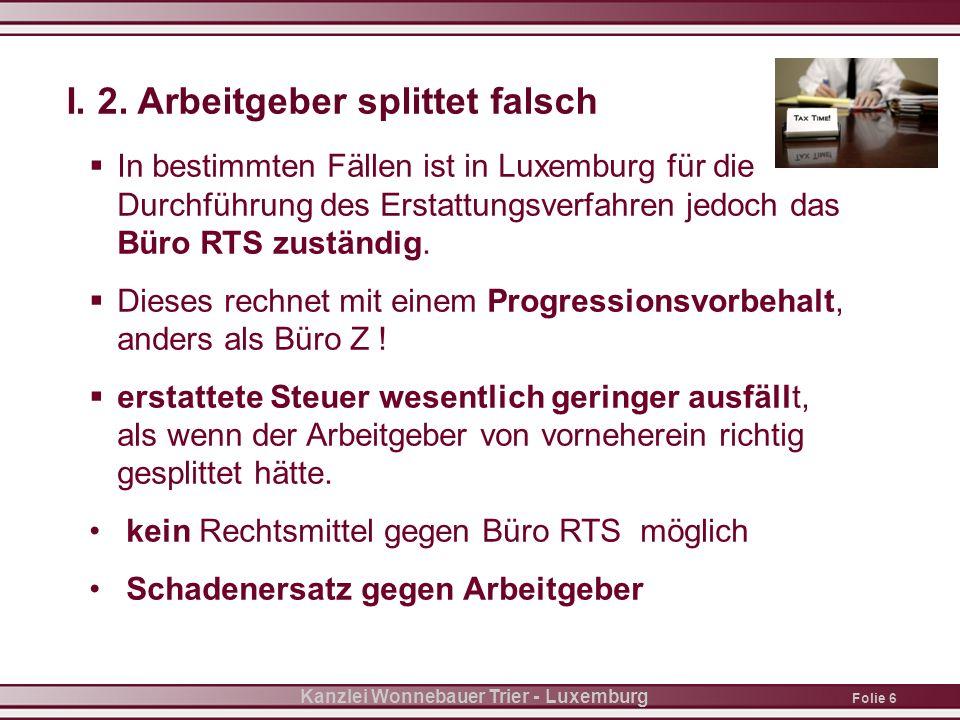 Folie 7 Kanzlei Wonnebauer Trier - Luxemburg II.1.