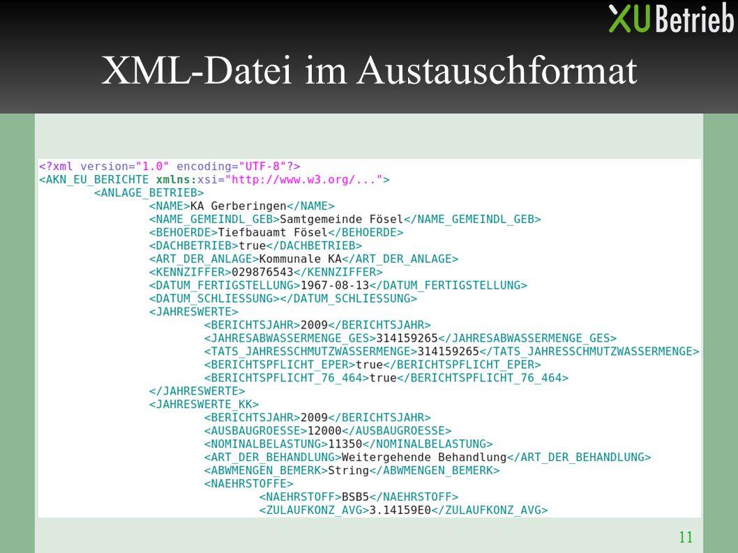 11 XML-Datei im Austauschformat