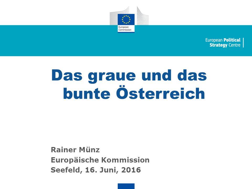 Seite 1 Das graue und das bunte Österreich Rainer Münz Europäische Kommission Seefeld, 16.