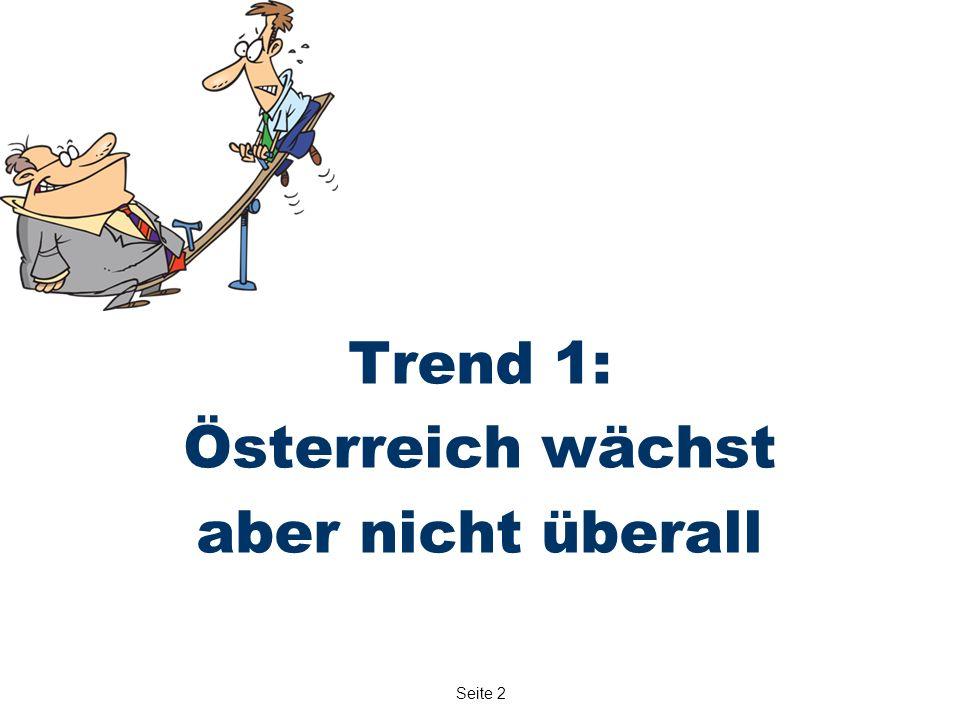 Seite 2 Trend 1: Österreich wächst aber nicht überall