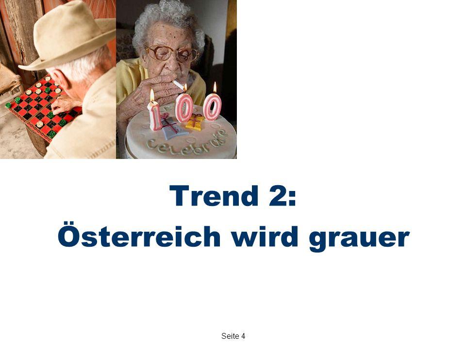 Seite 4 Trend 2: Österreich wird grauer