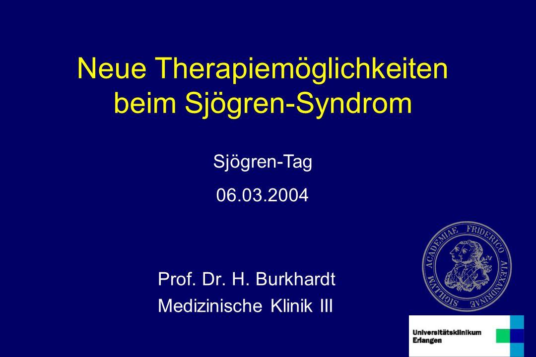 Neue Therapiemöglichkeiten beim Sjögren-Syndrom Prof.