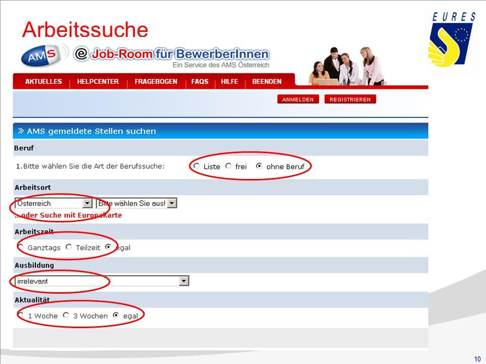 10 Arbeiten in Österreich Arbeitssuche