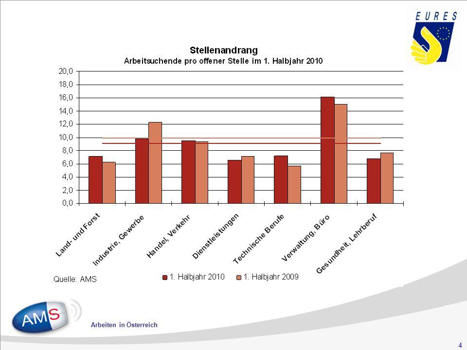 15 Arbeiten in Österreich Anforderungen an die Arbeitskräfte o Ausbildung und Praxis o gute Deutschkenntnisse o Motivation o Arbeiten unter zeitlichem Druck o Freundlichkeit o Durchhaltevermögen o Selbständigkeit o Überstundenbereitschaft