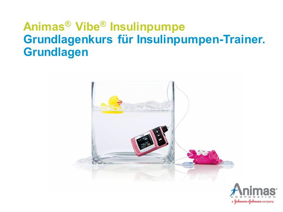 ANN-14-4300B_Basic Pump Trainer Course _mmol/L_DE © 2015 Animas Corporation 2015/11 EU Themenübersicht Einsatzgebiet der Animas® Vibe® Insulinpumpe Funktionen der Animas® Vibe® Insulinpumpe Animas® Vibe® Insulinpumpe in der Übersicht Funktionsweise der Animas® Vibe® Insulinpumpe Bilder der Animas-Pumpenträger sind nur für Illustrationszwecke gedacht.