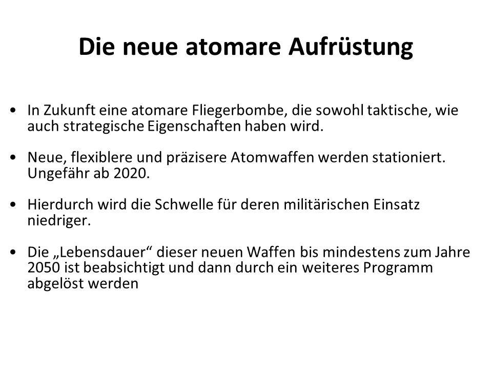 Die neue atomare Aufrüstung In Zukunft eine atomare Fliegerbombe, die sowohl taktische, wie auch strategische Eigenschaften haben wird.