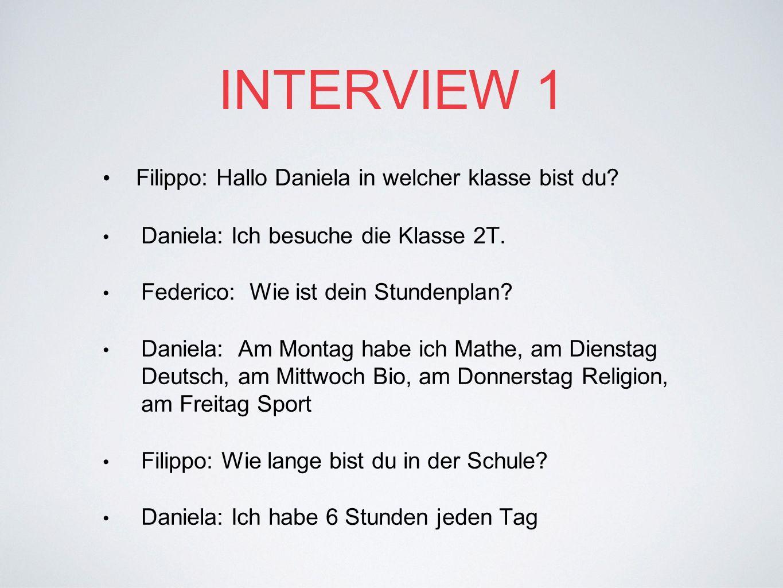 INTERVIEW 2 Federico: Was ist dein Musikinstrument.